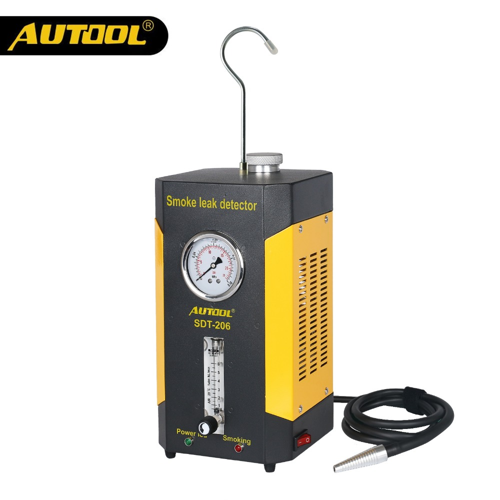 AUTOOL SDT206 Car Smoke Leakage Detector Automotive EVAP Leak Tester Locator Aut