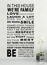 Free Shipping 57x114cm Modern Character Home Decor Quotes Decals PVC House Rules and Sayings Stickers BF-6