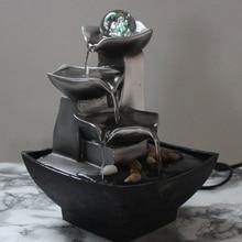 الراتنج نوافير مياه الديكور الداخلي الإبداعية الحرفية ديكور المنزل التماثيل المنزل فنغ شوي نافورة المياه مكتب ديكور المنزل