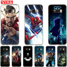 fb1e8123e18 For Samsung Galaxy S8 S9 Plus S6 S7 Edge Note 8 Luxury Marvel Avengers  Heroes Cover