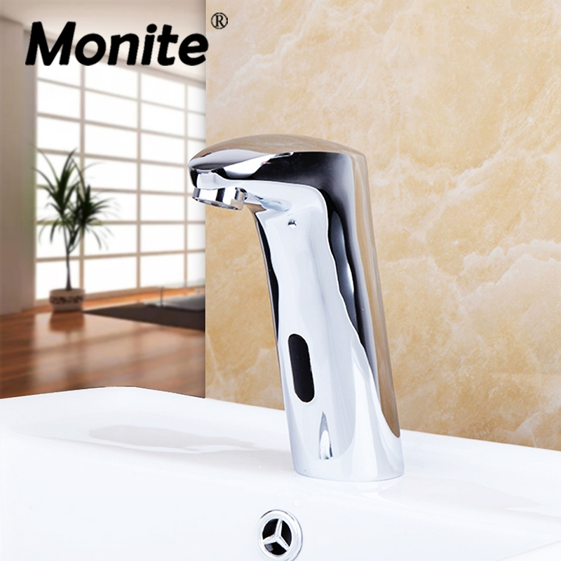 New Arrival Automatic Sensor Faucet Bathroom Basin Sink Faucet Water Mixer Tap Touch-Free Infrared Basin Tap &Tap Deck Mounted free shipping in wall installing sensor water faucet with deck mounted hotel bathroom sensor mixer tap basin sensor faucet