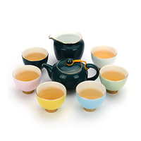 Home Rainbow Love Set Gift Teapot Cup Single Cup Colorful Ceramic Cover Bowl Tea Cup Small Wake Gift Tea Set