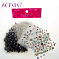 ACEVIVI Fashion Women's Professional Nail Care Fingernail Wraps 90 Sheets 3D Design Tip Nail Art Sticker Decal Manicure 31