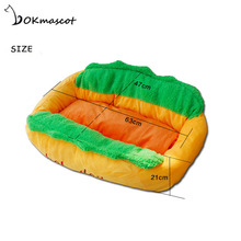 Vokmascot cat Hot Dog Dog Bed Pet Mat For Small Dogs Puppy Warm Cat Bed House Sofa Cushion Soft Pet Sleeping Bag Mat Funny 1PCS