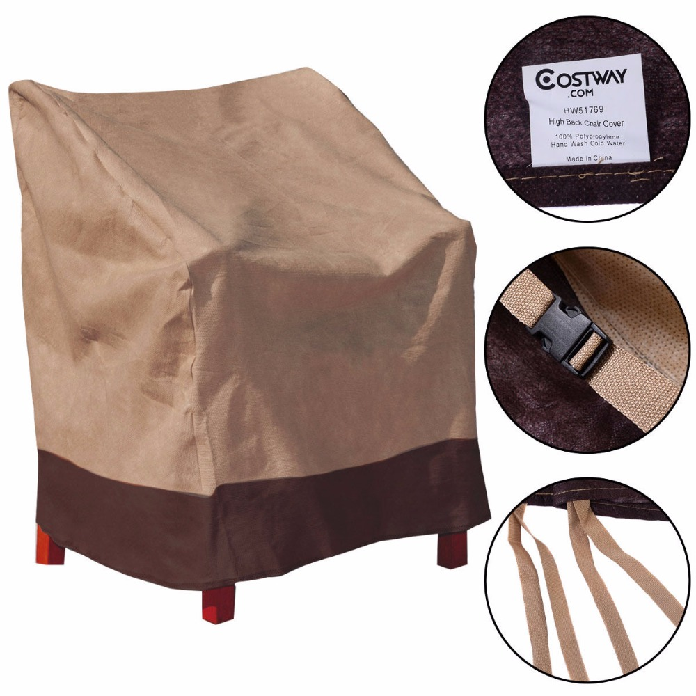2 PCS Waterproof High Back Chair Cover Outdoor Patio Garden Furniture Protection 2*HW51769