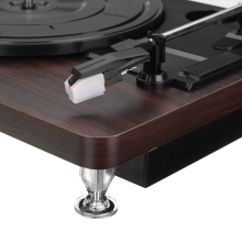 Record Player 33RPM Antique Gramophone Turntable Disc Vinyl Audio RCA R/L 3.5mm Output Out USB DC 5V Wood Color