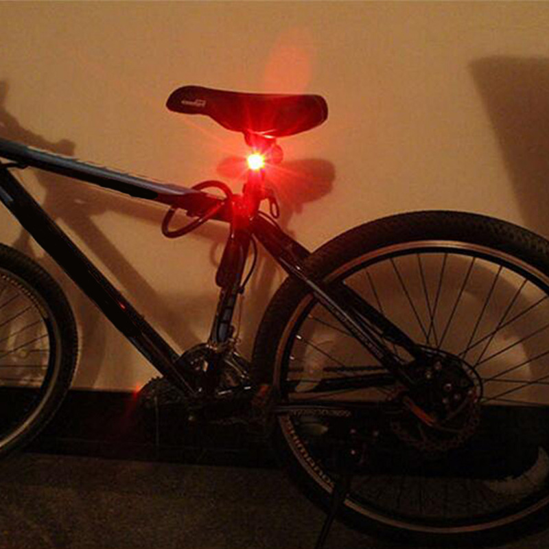LED Vandtæt Cykel Cykling Cykling Foran Bageste Halehjelm Rød Flash - Cykling - Foto 5