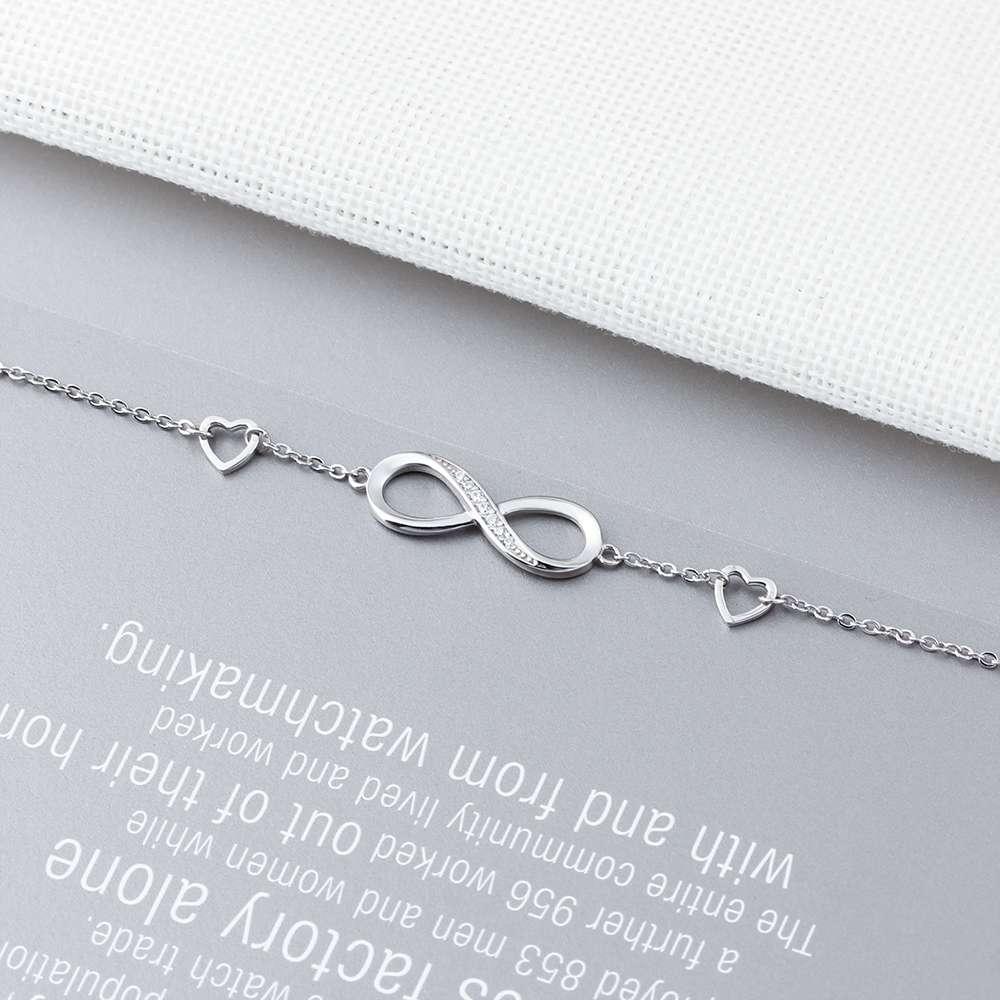 925 Sterling Silver Bracelets for Women Infinity Bracelet with Cubic Zirconia 8 Shape Chain Bracelet Jewelry 925 Sterling Silver Bracelets for Women Infinity Bracelet with Cubic Zirconia 8 Shape Chain Bracelet Jewelry Gift(Lam Hub Fong)
