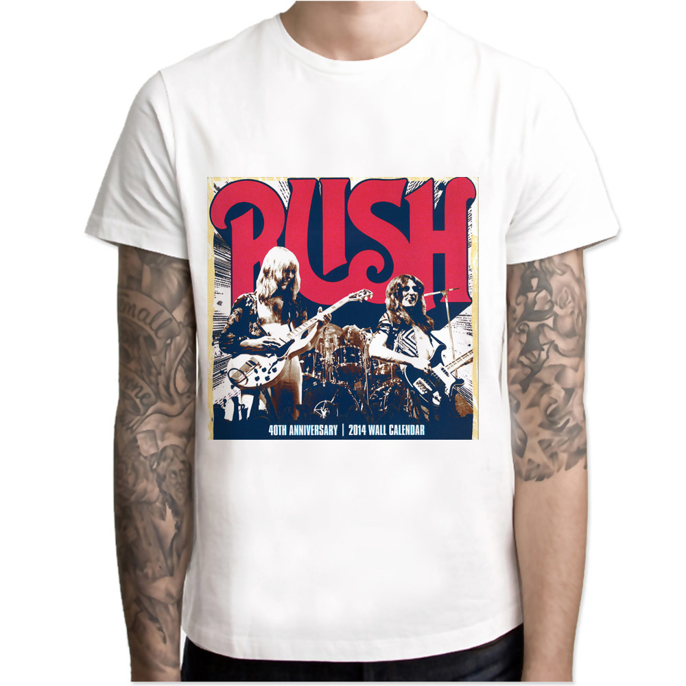 Rush Band T Shirt Men T Shirt Fashion T Shirt O Neck White