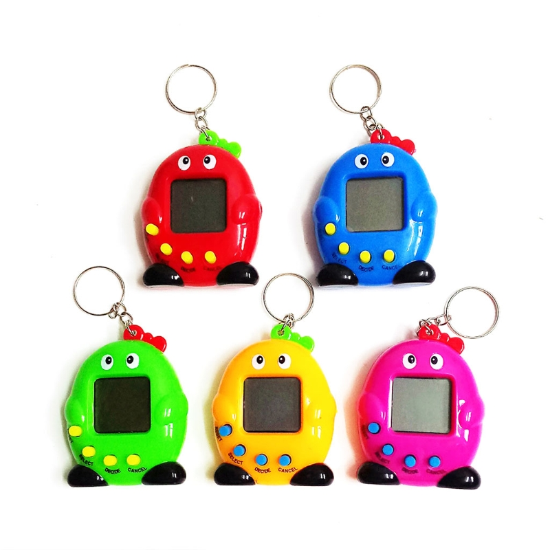 OOTDTY 1PC Cute Penguin LCD Virtual Digital Pet Electronic Game Machine With Keychain