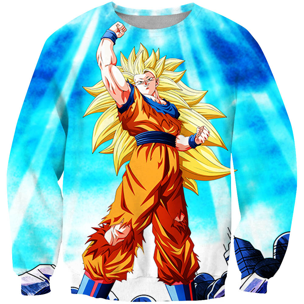 Men's Plus Size Fashionable Long Sleeve Casual Sweatshirt Dragon Z Ball Printing Kawaii Kid goku 3D Men Women's Hoodies Clothing