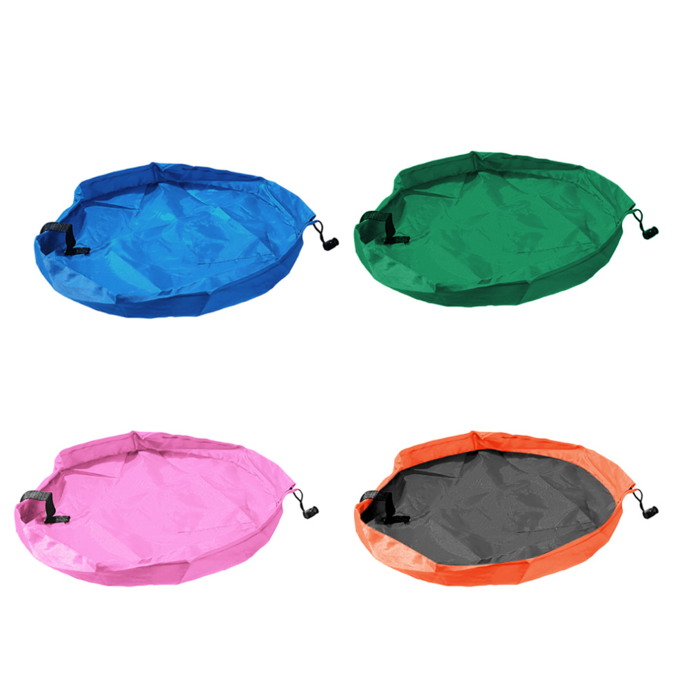 4 Colors Popular Practical Kid Toys Organizer Buggy Bag Play Mat Rug Toy Storage Holder Boxes New Hot!