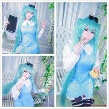 Vocaloid miku cosplay del anime japonés miku cos lolita dress trajes para las mujeres