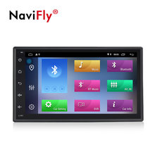 Navifly universal 7 android android android 9.1 carro gps dvd áudio rds cassete para nissan toyota peugeot kia multimídia carro com wifi 4g swc(China)