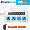 SC3 GSM SMS Remote socketControl Wireless 4 Outlets Smart Switch Power Plug socket module controller With temperature sensor 10A
