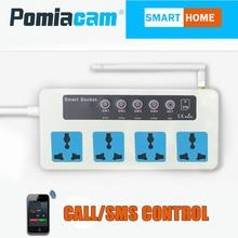 SC3 GSM SMS Từ Xa socketControl Không Dây 4 Cửa Hàng Thông Minh Chuyển Đổi Cắm Điện ổ Cắm mô đun điều khiển Với cảm biến nhiệt độ 10A