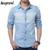 2016 nuevo diseño vendedor caliente hombres de otoño de moda flor de la impresión camisa de vaquero para hombre cómodo y popular de venta al por mayor MCL325