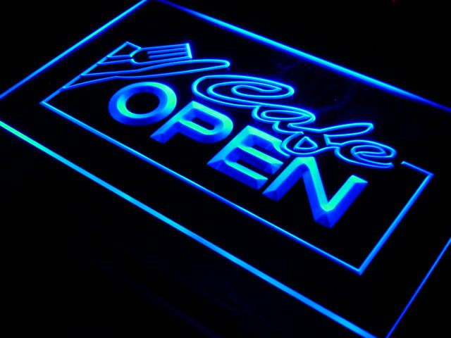 i011 OPEN Cafe NR Restaurant Business LED Neon Light Sign On/Off Switch 20+ Colors 5 Sizes
