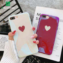 Plating Ray Blue Light Soft Phone Case For iPhone X XS Max XR Cases Fashion Couples Back TPU Cover 8 7 6 6S Plus
