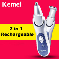 2in1 Rechargeable Nose Trimmer Waterproof Electric Nose Hair Trimmer Ear Cleaner Led Nose Hair Cutter For