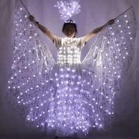 СВЕТОДИОДНЫЙ световой костюм для свадебного платья светящаяся одежда светящаяся Свадебная юбка для женщин бальное танцевальное платье ки