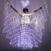 LED Wedding Dress Luminous Suits Light Clothing Glowing Wedding Skirt For Women Ballroom Dance Dress China Ladies Accessories