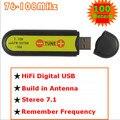 USB fm-передатчик беспроводной звуковая карта стерео 7.1 канала 100 метров FM-FU88-100