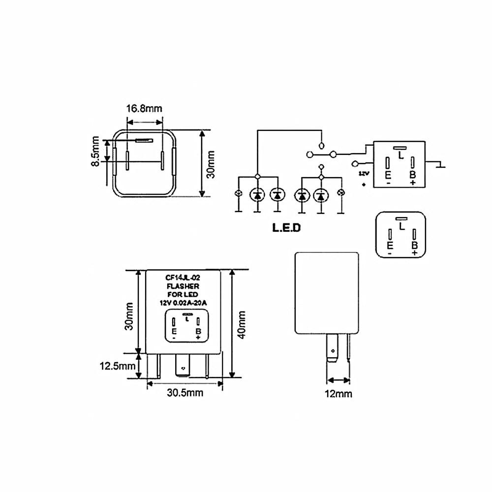 US $83.99  30X led flasher 3 pin led turn light flasher relay car blinker on led flasher wiring diagram, led electronic flasher wiring, led flasher relay schematic, 3 prong turn signal flasher wiring,