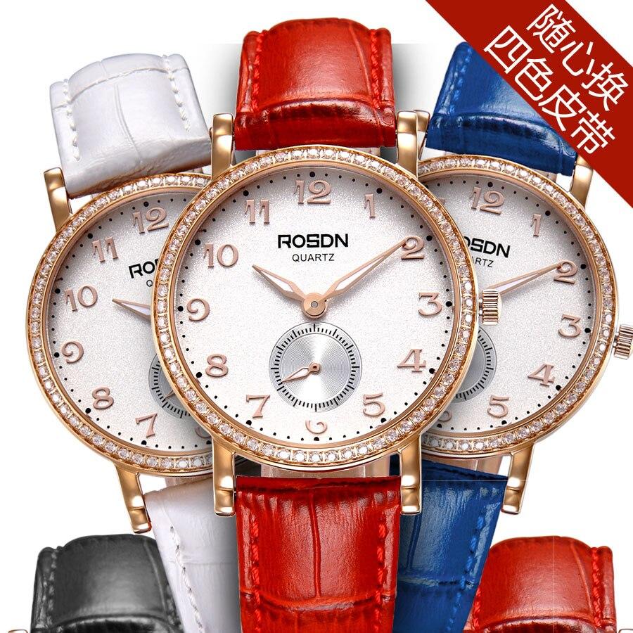 ROSDN 2016 Luxury Women Quartz Waterproof Watch Montre Femme De Marque Fashion Casual Elojes Luxury