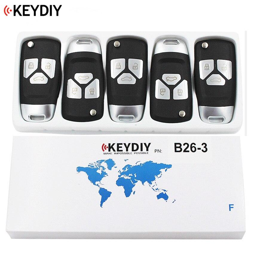 5PCS LOT Original KEYDIY 3 Buttons B26 3 Style Universal Remote Control Key B Series for