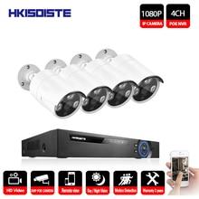 Home 4CH 48V NVR POE CCTV System Kit 2MP 1920*1080p Indoor Outdoor Bullet POE IP Camera Security Surveillance Set App Viewing