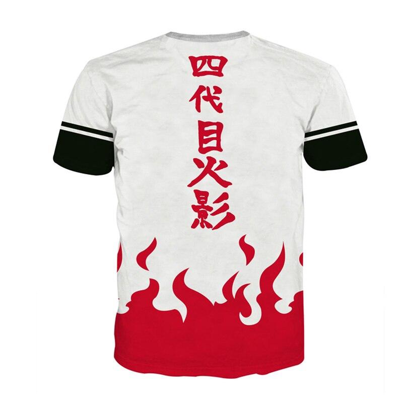 Anime Naruto Cosplay T Shirt Men 3D Print T-shirts Boruto Costumes Fourth Hokage Tshirt Summer Clothing Tees Tops Luxtees (5)