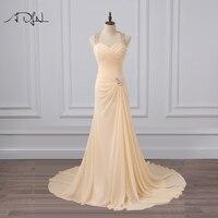 ADLN Холтер шифон свадебное платье роскошный сильно бисером Русалка Свадебные платья со складками халат де mariée