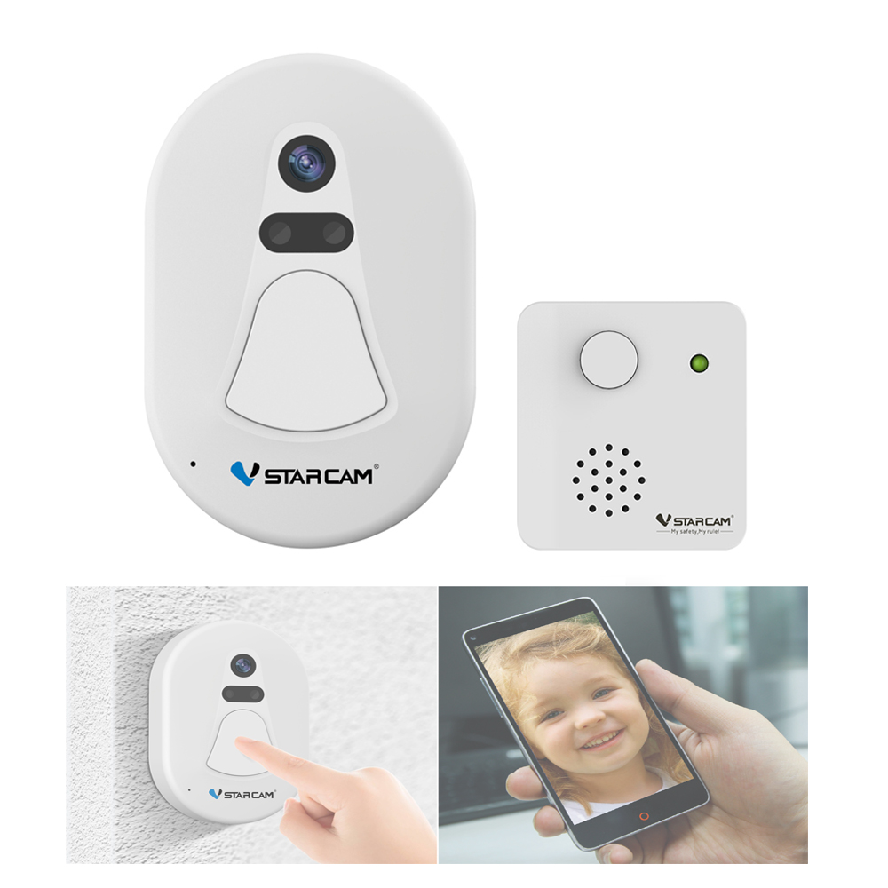 Unique WiFi Wireless Doorbell Camera with Snapshot Alarm App Photo Intercom ...