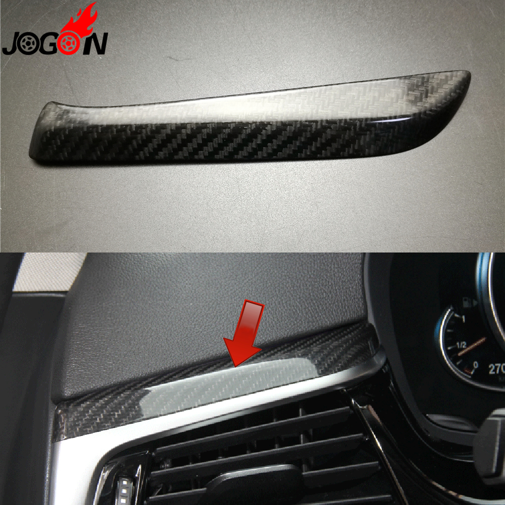 LHD 100% Real Carbon Fiber For BMW 5 Series G30 G38 2017 2018 Car Interior Left Side AC Air Condition Vent Outlet Cover Trim epr car styling for mazda rx7 fc3s carbon fiber triangle glossy fibre interior side accessories racing trim