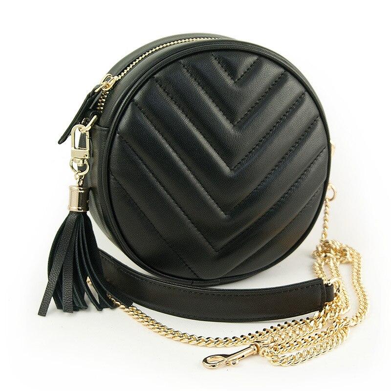2017 Hot Sale Popular Fashion Brand Design Women Genuine Leather Bags Designer Brand Female Chain Handbags Free Shipping