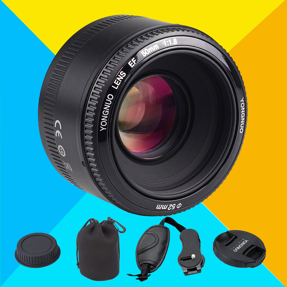 YONGNUO YN 50mm YN50mm F1.8 Lens Large Aperture Auto Focus Lens for Canon 6d 60d 5d mark iii 550d 1100d 650d 600d 700d 7d 5d2 m42 chip adapter af iii confirmation ring for canon eos ef 60d 550d 7d 5d 1100d