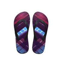 noisydesigns/мужские тапочки с принтом тетрис, удобные нескользящие вьетнамки для дома, унисекс, забавные модные износостойкие мужские тапочки