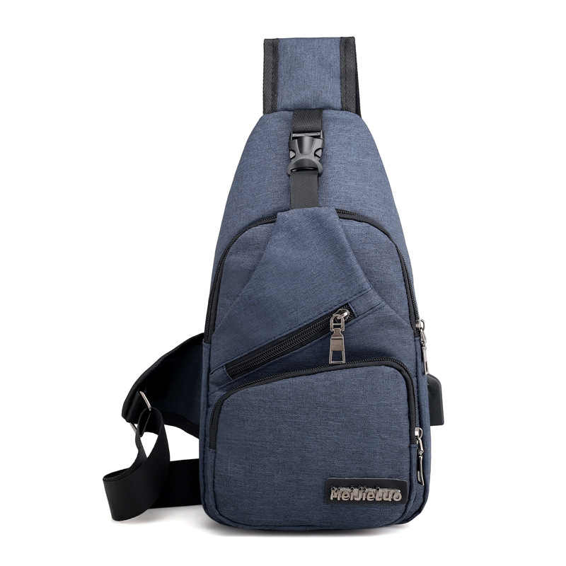 Summer Short Trip Messengers Bag Male Shoulder Bags USB Charging Crossbody Bags Men Anti Theft Chest Bag School 2019 New Arrive
