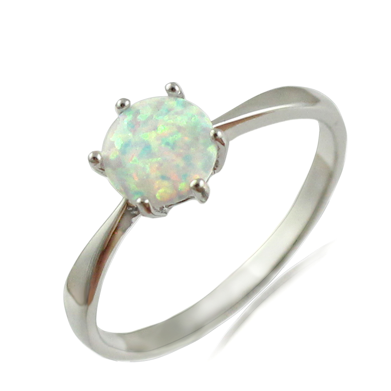 5720c8cc84 HAIMIS White Blue Pink Fire Opal CZ Women Claw Inay Fashion Jewelry Opal  Ring Size 6 7 8 9 23W-in Rings from Jewelry   Accessories on Aliexpress.com  ...