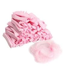 100PCS Disposable Hair Shower Cap Non Woven Pleated Anti Dust Women Men