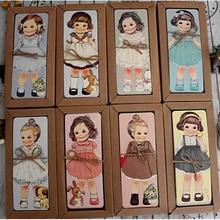 30 шт./лот, новая серия, набор закладок для куклы/бумажные закладки/держатель для книг/открытка для сообщений с крафт-посылка