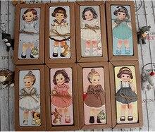 Conjunto de marcapáginas de la serie girl mate, marcapáginas de papel, soporte de libro, tarjeta de mensaje con paquete Kraft, 30 unids/lote