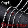 Beier colar de torção de aço inoxidável 4.5mm/5.5mm colar de corrente da moda menino homem colar de corrente cor prata bn1010
