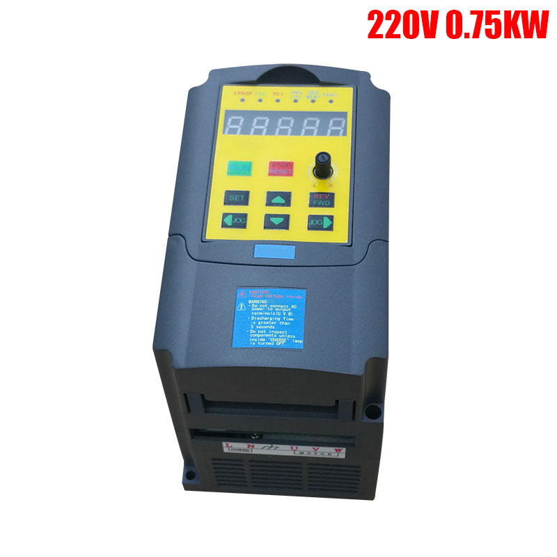 220V 0.75KW Frequency Inverter Single Phase input and 220V 3 Phase Output mini Frequency Converter Adjustable Speed Drive VFD baileigh wl 1840vs heavy duty variable speed wood turning lathe single phase 220v 0 to 3200 rpm inverter driven