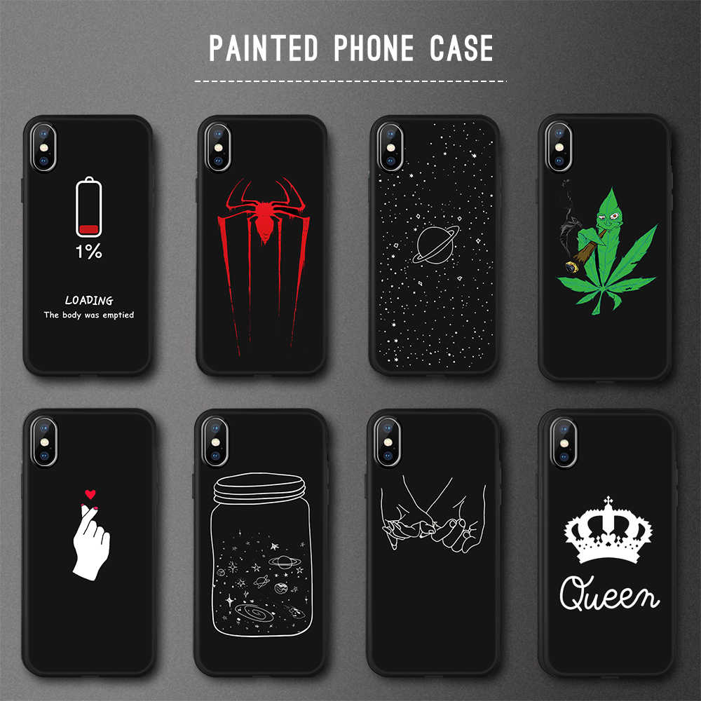 GerTong Painted TPU Phone Case For iPhone 6 6S 7 8 Plus 5 S SE Case Soft Silicone Aniverse Coque For iPhone 7 Plus X Cover Capa