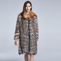 JKP Natural fox fur collar real fur women's coat winter warm coat furry fox fur collar fashion new discount 2018 coats