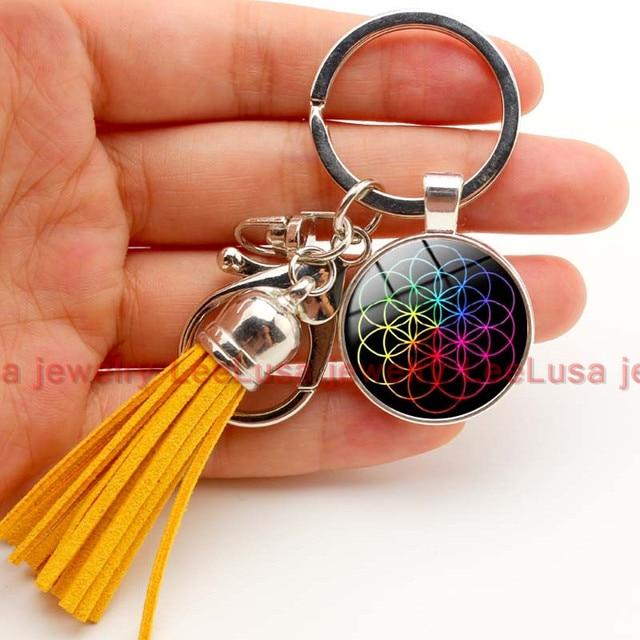 c009bf9441fd4 Coldplay datas da turnê mundial chaveiro charme borla chaveiro presente  para os fãs de 6 estilos