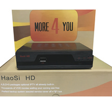 IPTV tv box HaosiHD satellite receiver with one year account free 2600 Eupore North America Africa channels better then freesat
