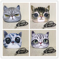2016 NOVO 3D impresso mulheres do gato do cão do filhote de cachorro de pelúcia mochila saco, kit buceta, as meninas do partido, saco de presente engraçado bonito casos saco pequeno pacote animais